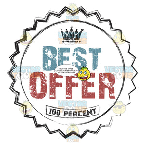 Best Offer 100 Percent Colored Grungy Rubber Stamp In Circle With Decorative Border