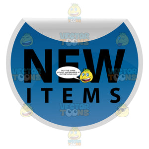 Blue Folded Down Web 2.0 Sticker With Words New Items
