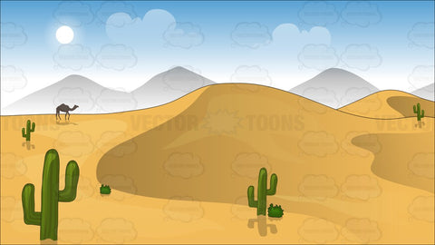 Sand Dunes In The Desert Background