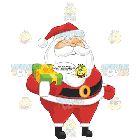 Santa Claus Carrying A Present