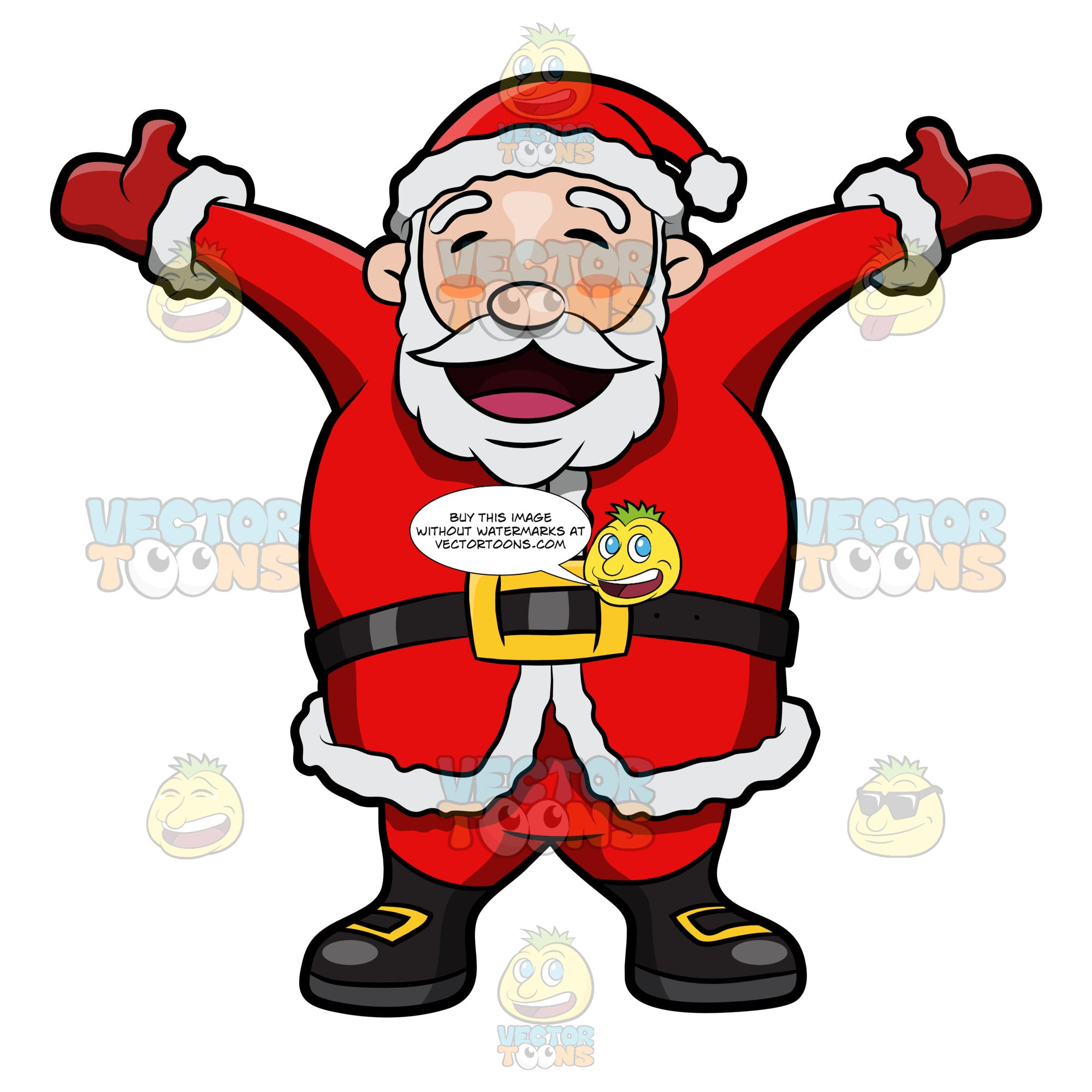 Santa Claus Rejoicing The Christmas Holiday