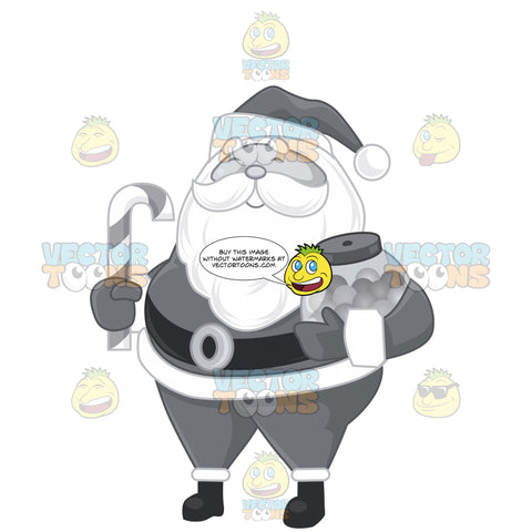 Santa Clause Holding Candies