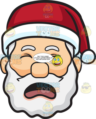 A Crying Face Of Santa Claus