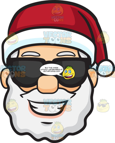 A Joyful Santa Claus In Shades