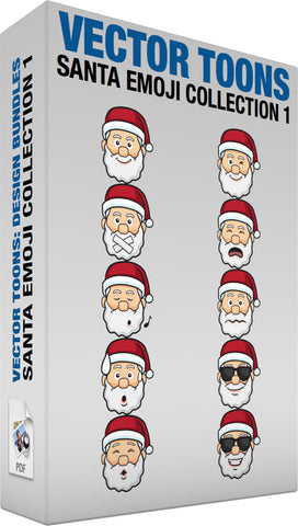 Santa Emoji Collection 1