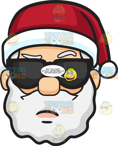 An Arrogant Face Of Santa Claus