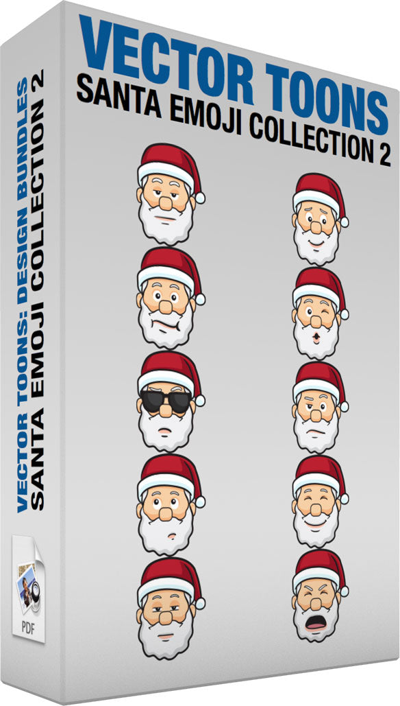 Santa Emoji Collection 2