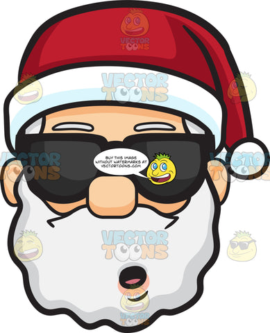 A Stunned Face Of Santa Claus In Shades