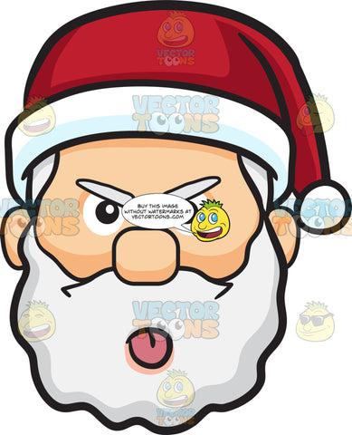 A Mocking Face Of Santa Claus