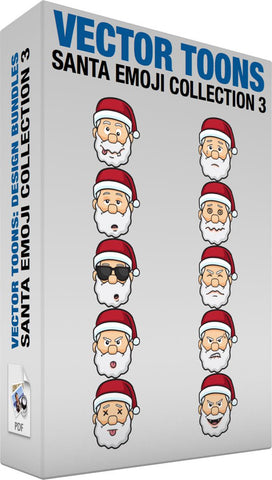 Santa Emoji Collection 3