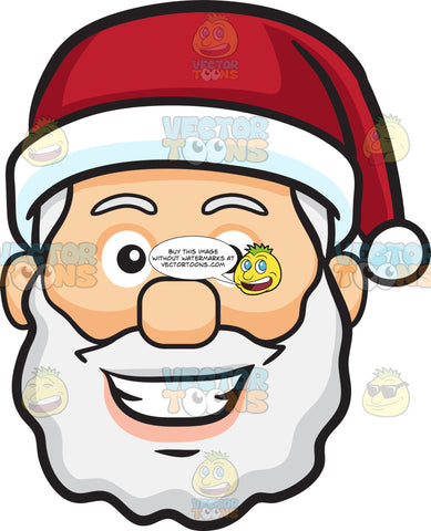 A Grinning Face Of Santa Claus