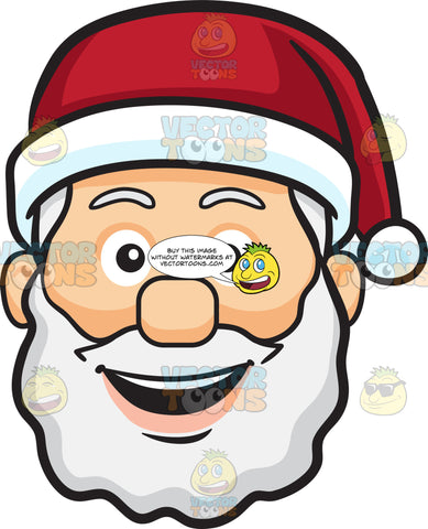 A Very Happy Face Of Santa Claus