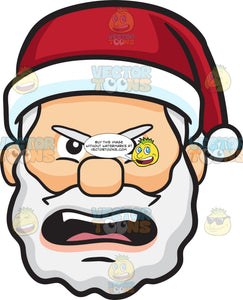 A Nagging Face Of Santa Claus