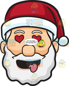 A Face Of Santa Claus Looking Hopelessly In Love