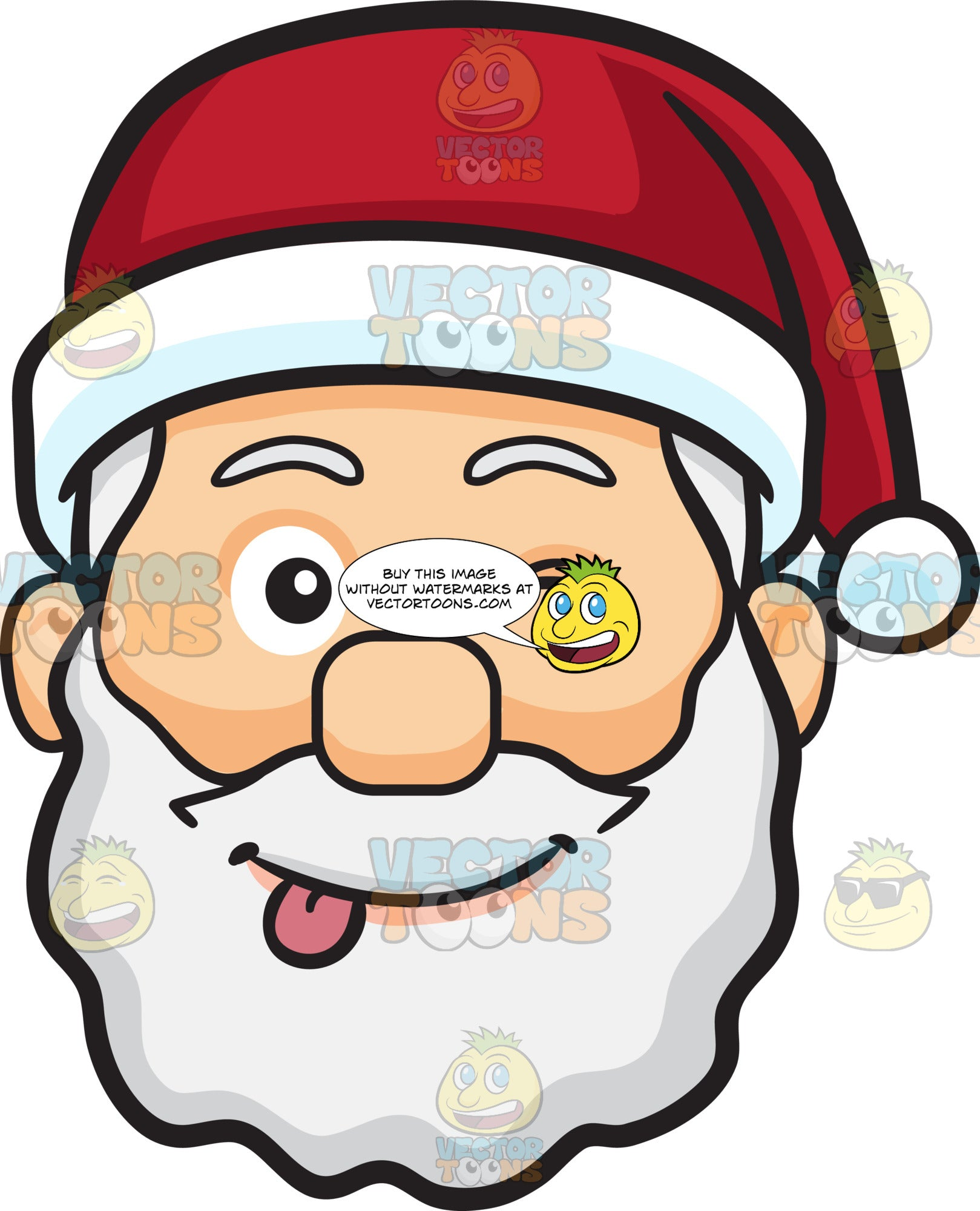 A Teasing Face Of Santa Claus