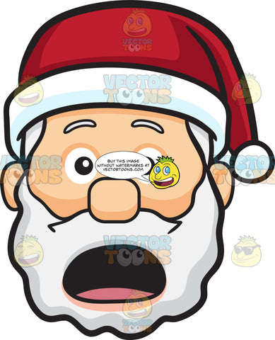 A Shocked And Aghast Face Of Santa Claus