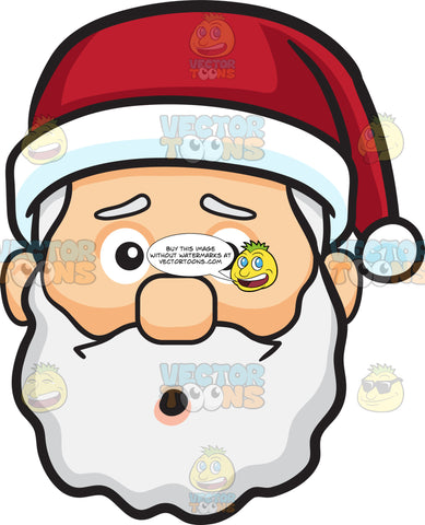 A Dumbfounded Face Of Santa Claus