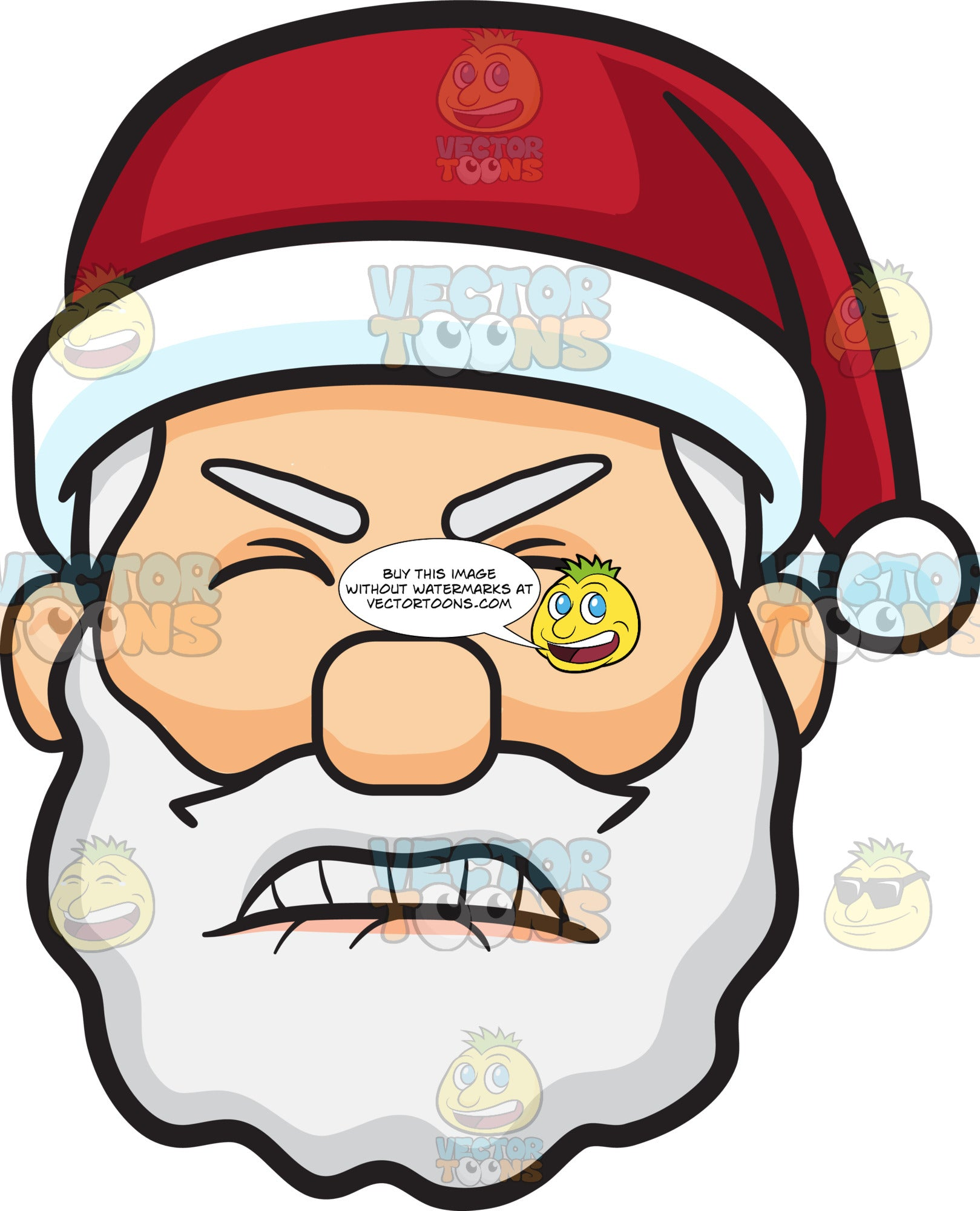 A Frustrated Face Of Santa Claus