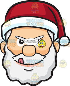 A Naughty Face Of Santa Claus