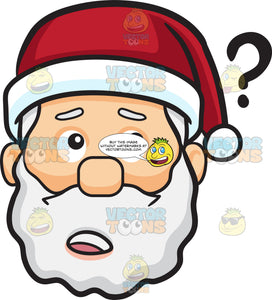 A Curious Face Of Santa Claus