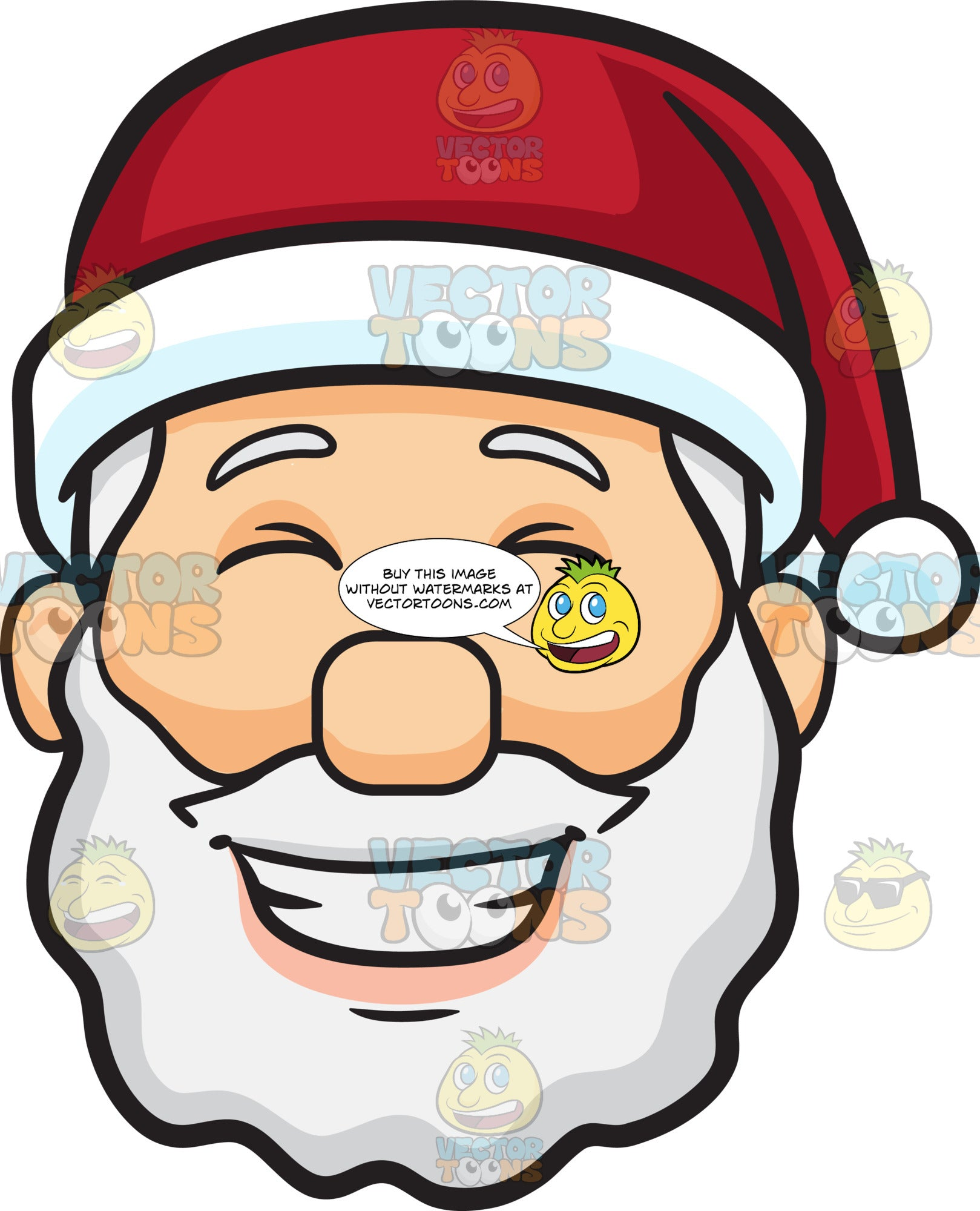 A Face Of Santa Claus Grinning In Delight