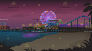 Santa Monica Pier Background