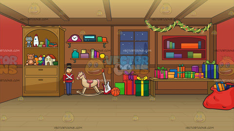 Santas Workshop Background
