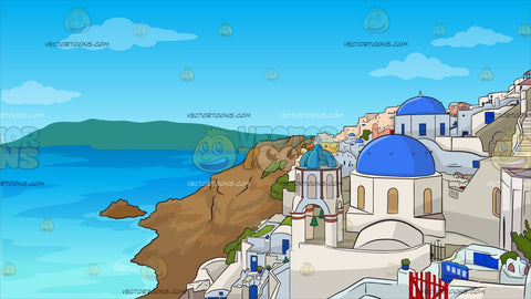 Santorini Greece Background