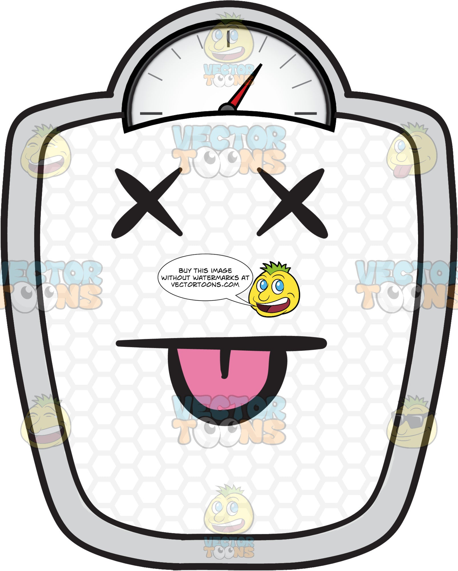 Knocked Out Weighing Scale Emoji