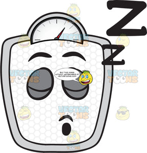 Weighing Scale Sleeping Soundly Emoji