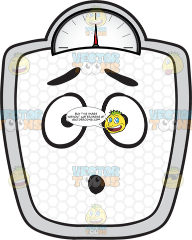 Dumbfounded Weighing Scale Emoji
