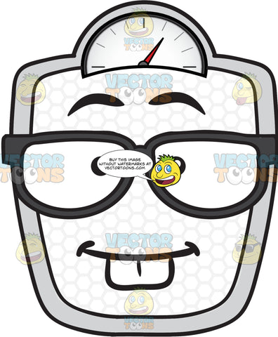 Nerd Looking Weighing Scale Wearing Eye Glasses Emoji