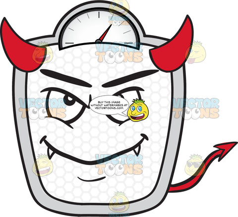Devilish Looking Weighing Scale Emoji