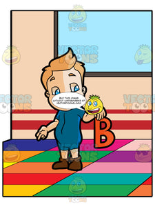 A Preschooler Boy Reciting About The Letter B