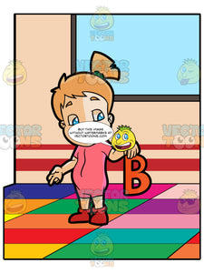 A Preschooler Girl Reciting About The Letter B