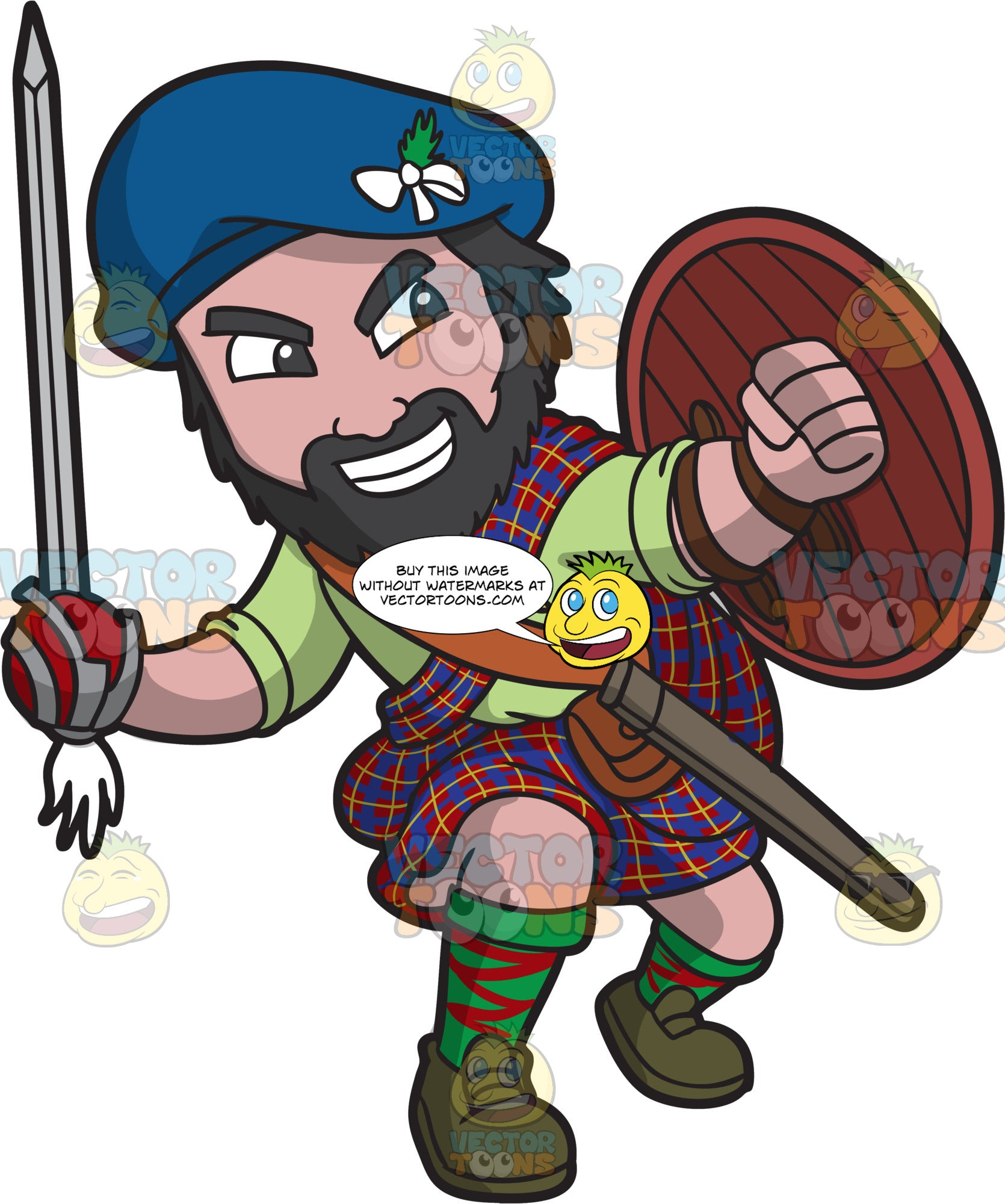 A Scottish Clansman In Action