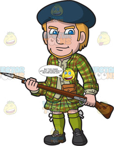 A Fierce Scottish Clansman With A Gun
