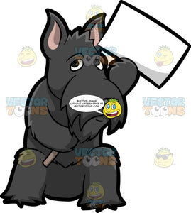 A Scottish Terrier Protesting A Cause
