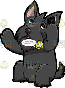 A Scottish Terrier Talking On The Phone