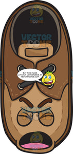 Screaming Brown Shoe Emoji
