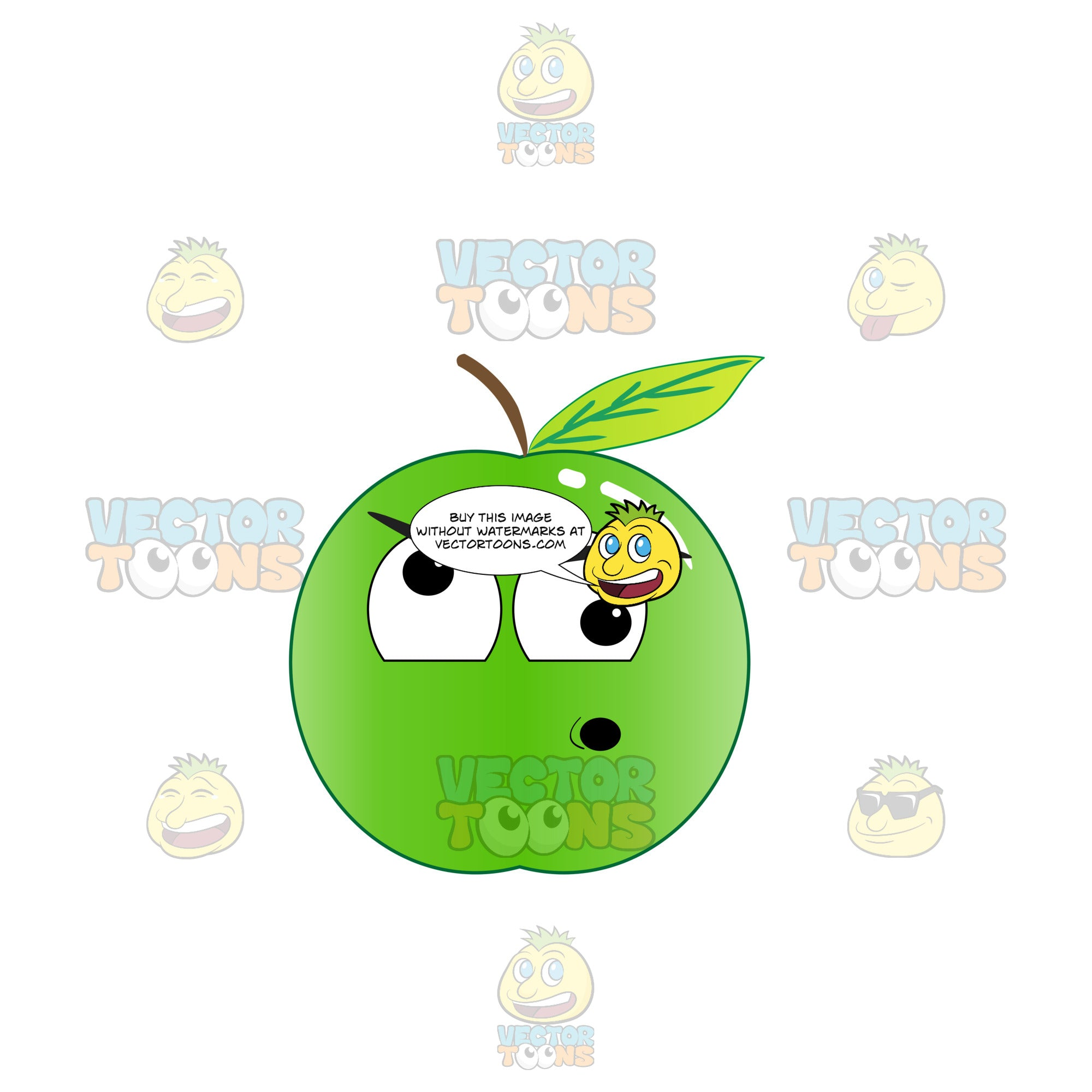 Screwball And Nuts Green Apple Emoji
