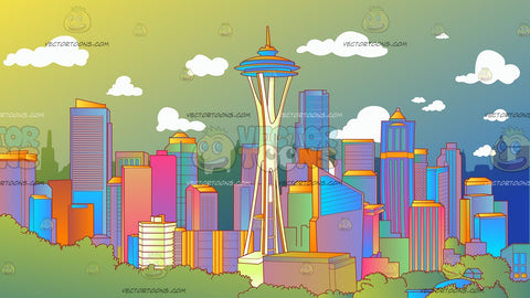 Seattle Skyline Background