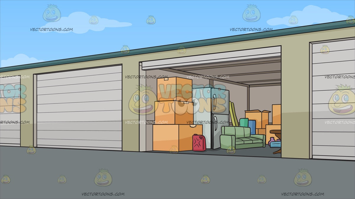 Self Storage Units Background Clipart Cartoons By