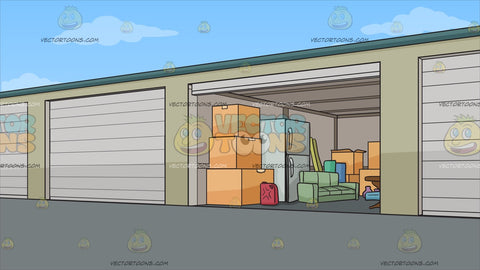 Self Storage Units Background