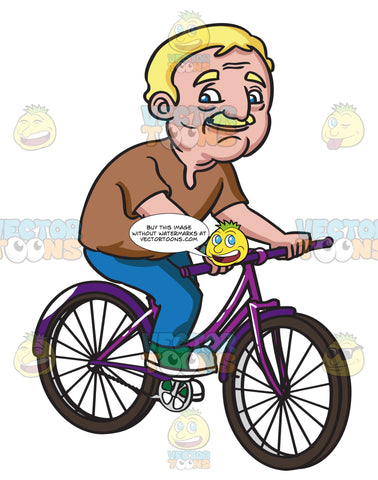 A Smiling Grandpa On His Bike