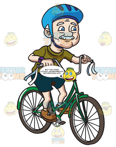 A Grandpa Rides A Fun Looking Bicycle