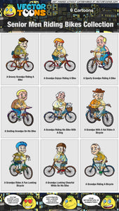 Senior Men Riding Bikes Collection