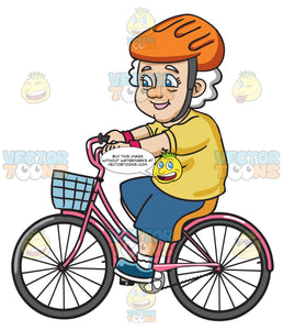 A Female Senior Citizen Looking Sporty While In A Bike