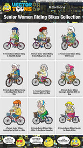 Senior Women Riding Bikes Collection