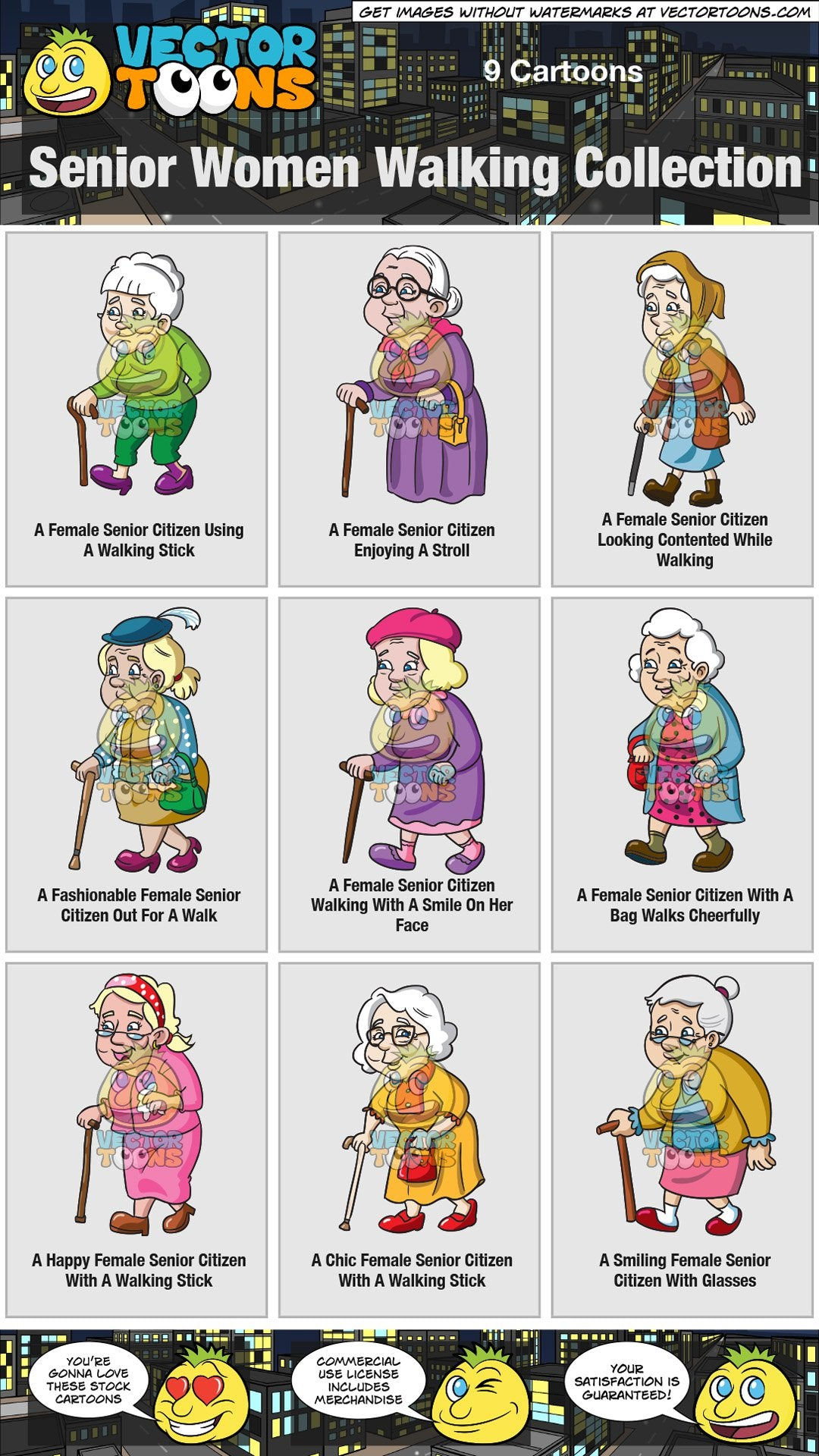 Senior Women Walking Collection